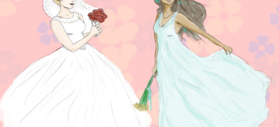 White Dress to Bridal Outfit